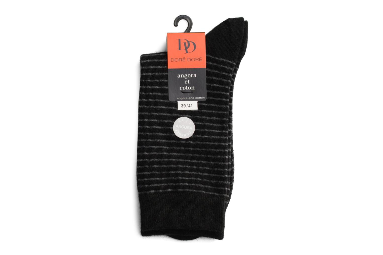 Chaussettes et collants Doré Doré Chaussettes RAYURES TENDRESSES Noir vue droite