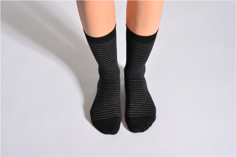 Socken RAYURES TENDRESSES 093 - noir
