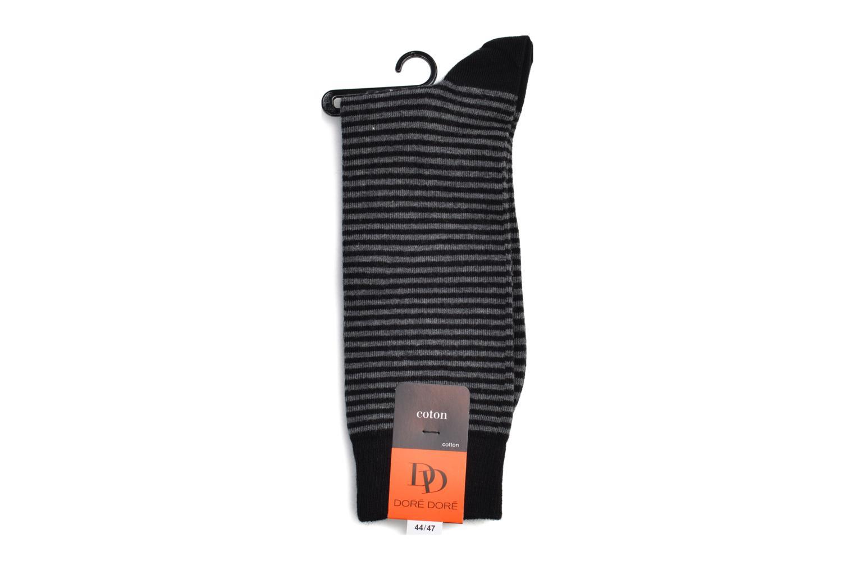 Chaussettes et collants Doré Doré Chaussettes FINE STRIPES Noir vue portées chaussures