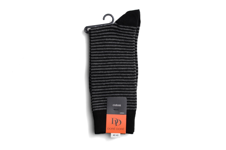 Chaussettes et collants Doré Doré Chaussettes FINE STRIPES Noir vue face