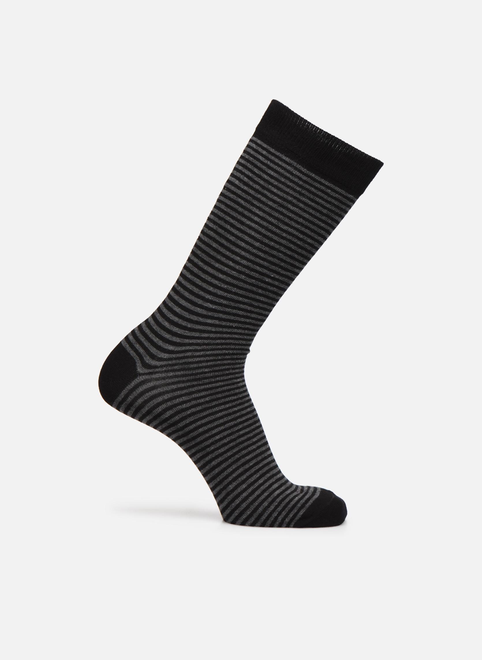 Chaussettes FINE STRIPES 093 - noir / gris