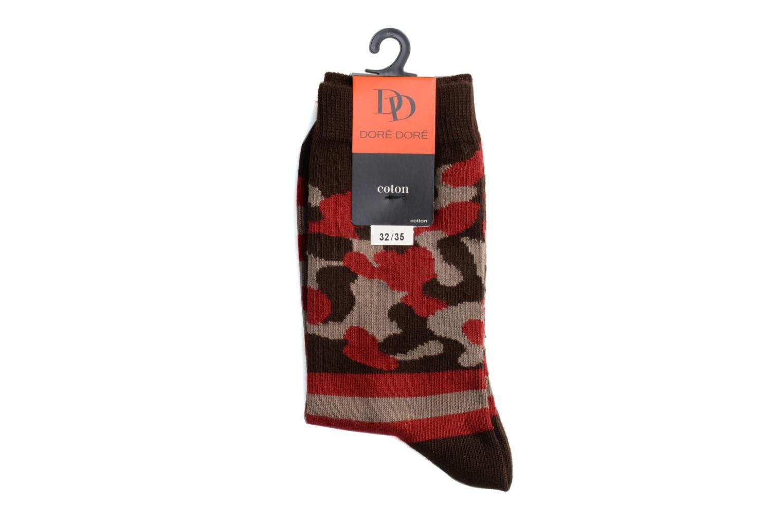 Socken ARMY 022 - marron / rouge