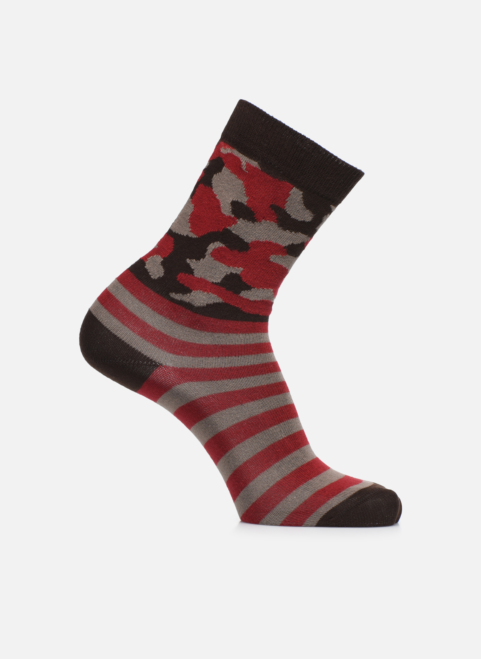 Chaussettes ARMY 022 - marron / rouge