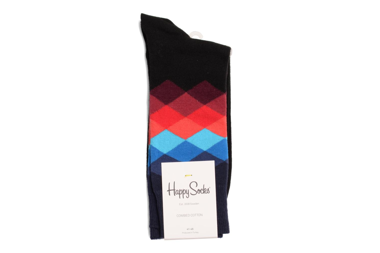 Chaussettes et collants Happy Socks Chaussettes FADED DIAMOND Noir vue droite