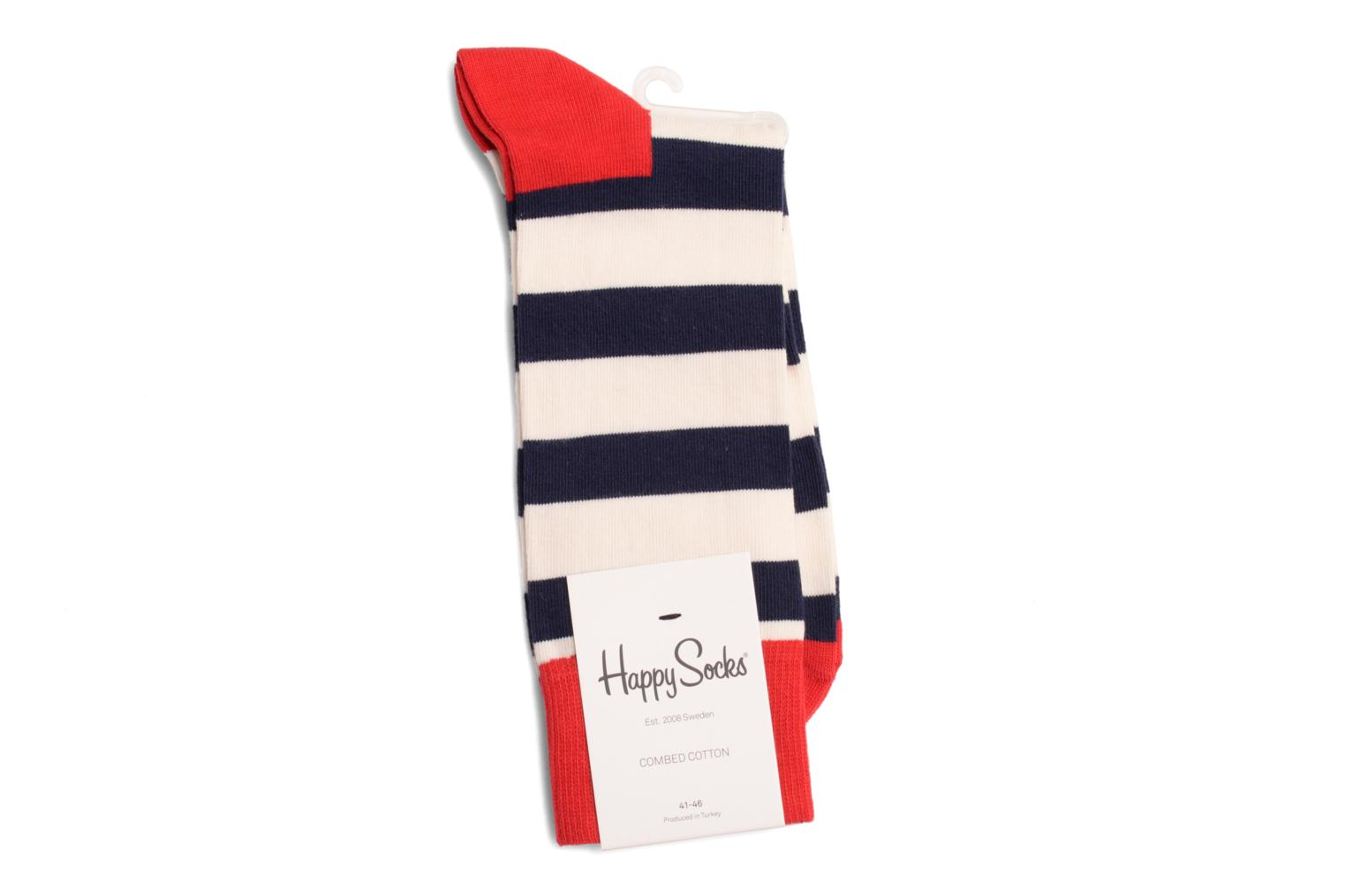 Calcetines STRIPES Marine Rouge