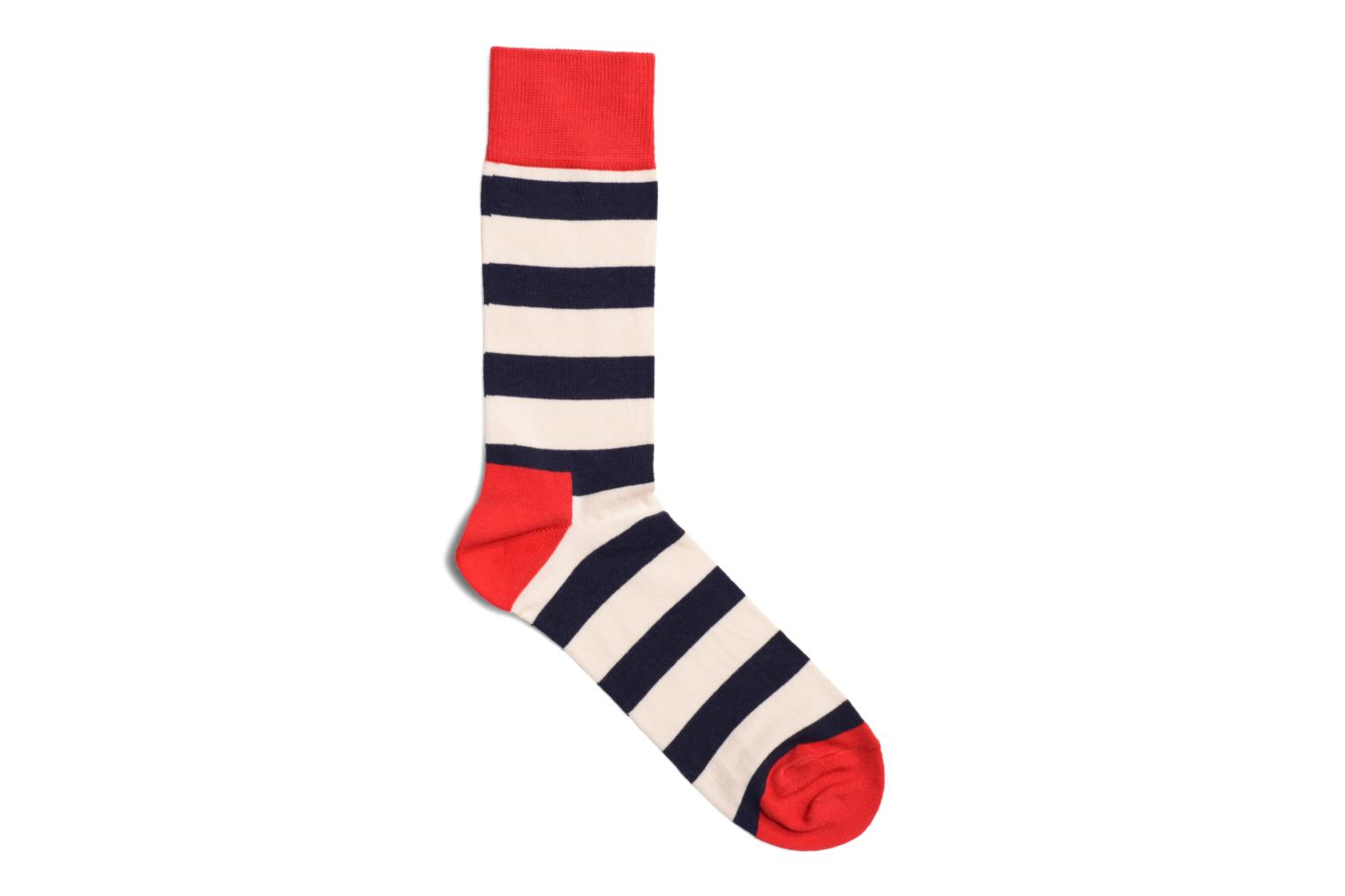 Socks STRIPES Marine Rouge