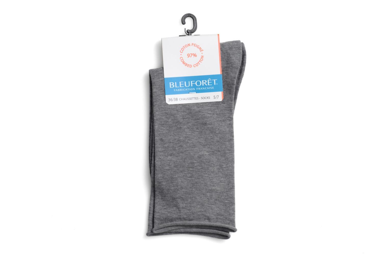 Chaussettes et collants BLEUFORÊT Chaussettes Veloutées Pur Cotton Gris vue face
