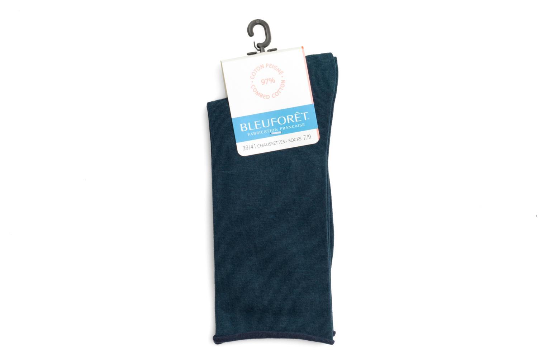 Chaussettes Veloutées Pur Cotton atlantique