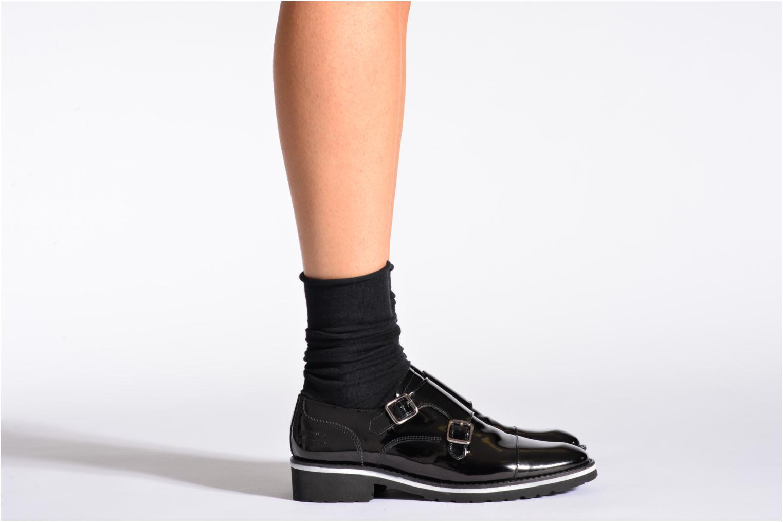 Socken & Strumpfhosen BLEUFORÊT Chaussettes laine fine schwarz schuhe getragen