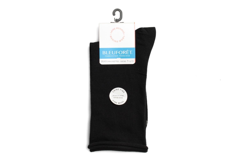 Medias y Calcetines BLEUFORÊT Chaussettes laine fine Negro vista de frente