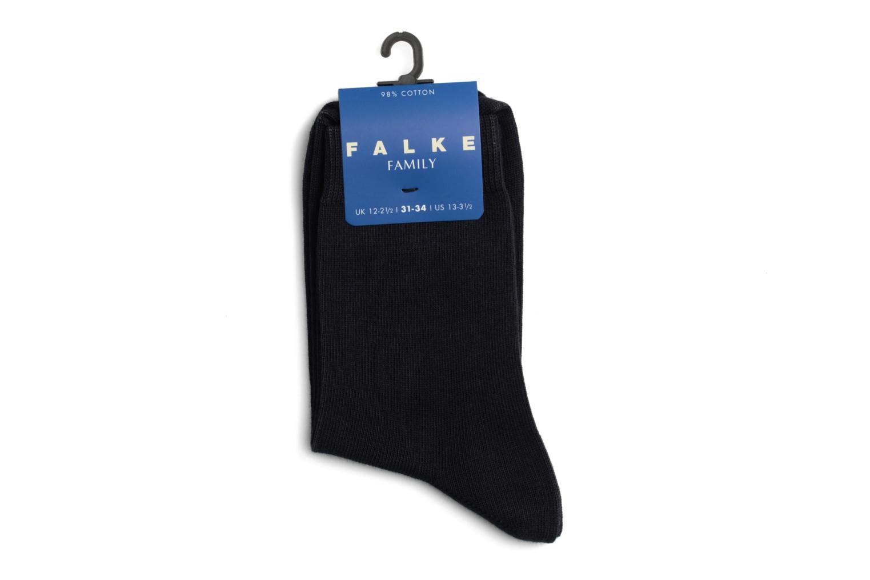 Chaussettes et collants Falke Chaussettes FAMILY Noir vue face