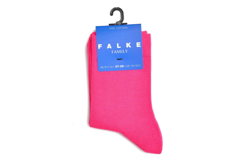 Chaussettes et collants Falke Chaussettes FAMILY Rose vue derrière
