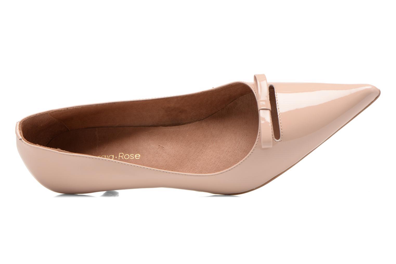 Zapatos de tacón Georgia Rose Ribote Beige vista lateral izquierda