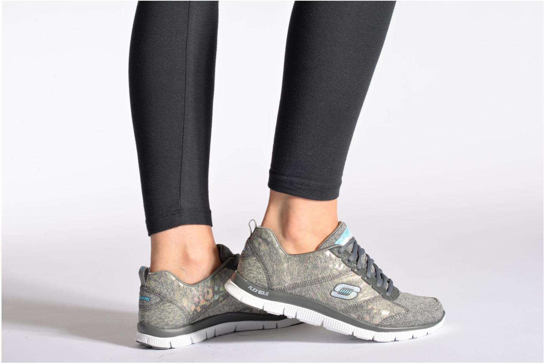 Chaussures de sport Skechers Flex Appeal Hollywood Hills 12199 Gris vue bas / vue portée sac