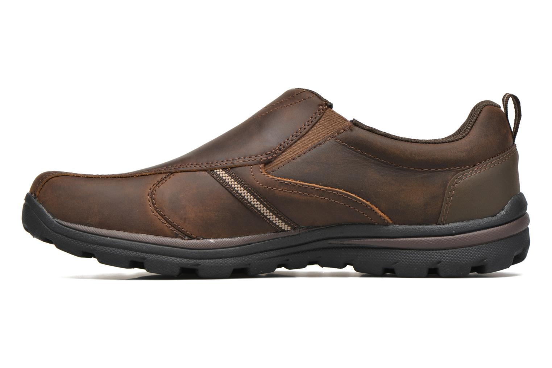 Loafers Skechers Superior Manlon 64590 Brun bild från framsidan