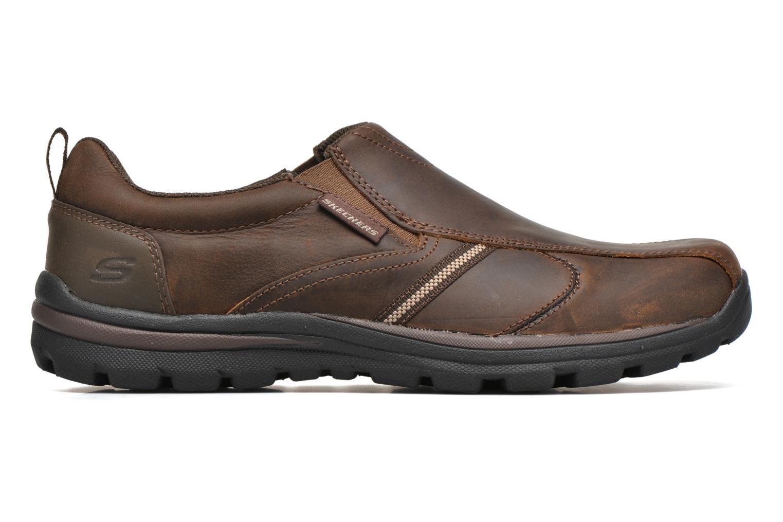 Loafers Skechers Superior Manlon 64590 Brun bild från baksidan