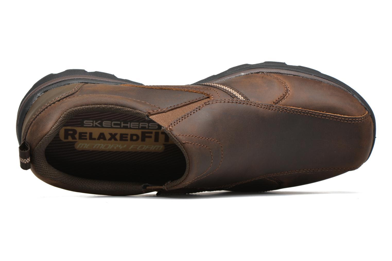 Loafers Skechers Superior Manlon 64590 Brun bild från vänster sidan