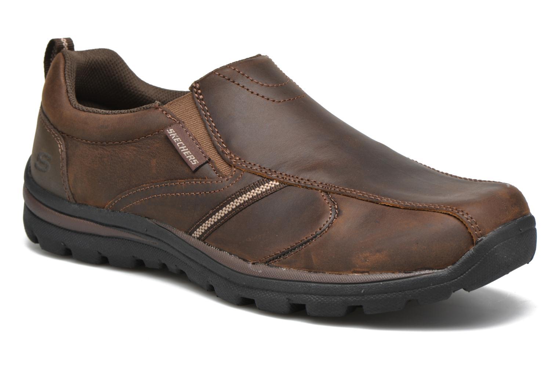 Loafers Skechers Superior Manlon 64590 Brun detaljerad bild på paret