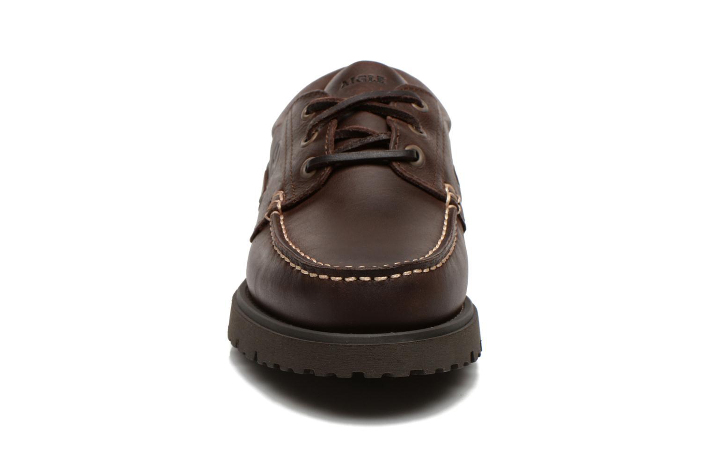 Schnürschuhe Aigle Tarmac braun schuhe getragen