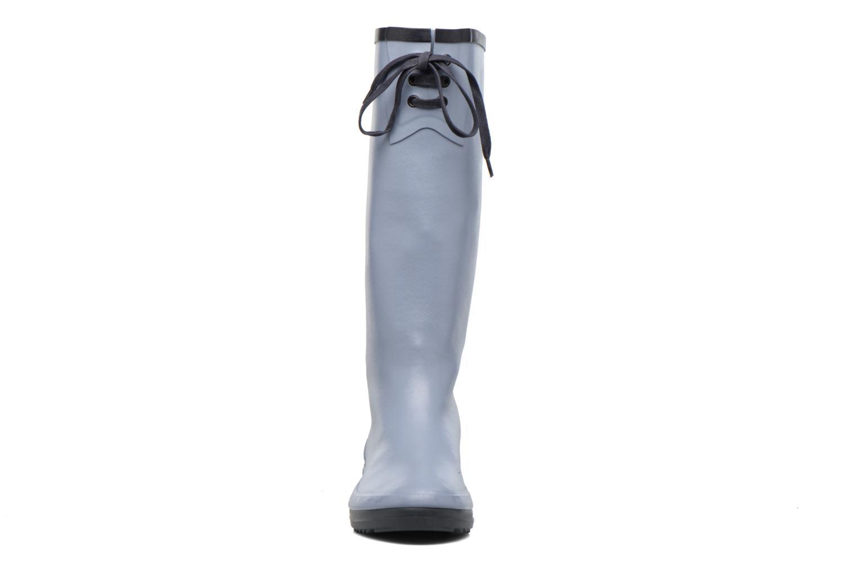 Bottes Aigle Miss Marion Bleu vue portées chaussures