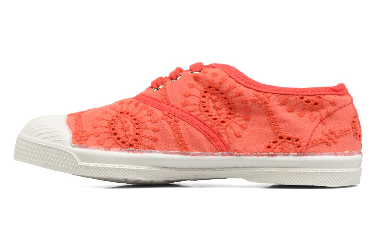 Sneakers Bensimon Tennis Broderie Anglaise E Rosso immagine frontale