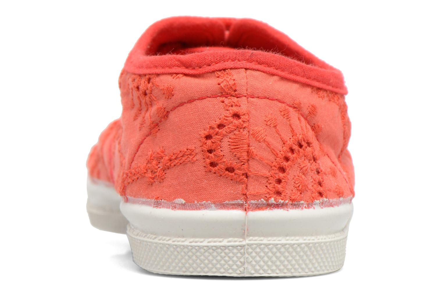 Trainers Bensimon Tennis Broderie Anglaise E Red view from the right