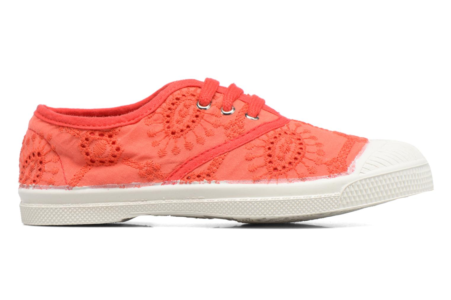 Trainers Bensimon Tennis Broderie Anglaise E Red back view