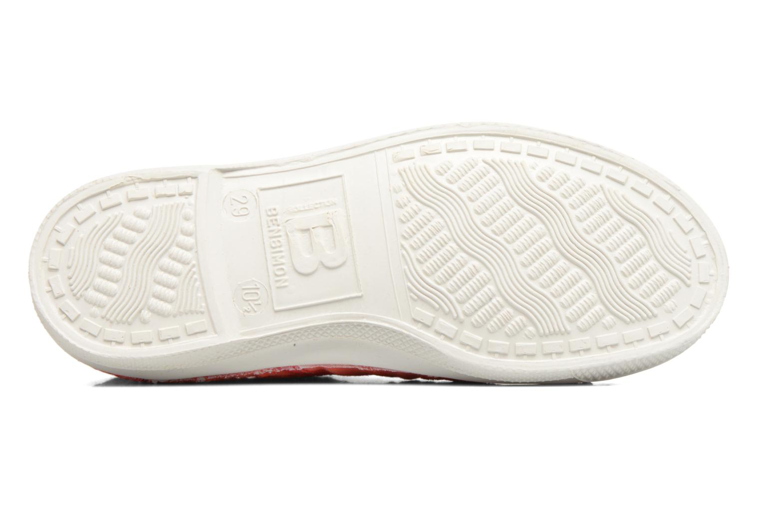 Trainers Bensimon Tennis Broderie Anglaise E Red view from above
