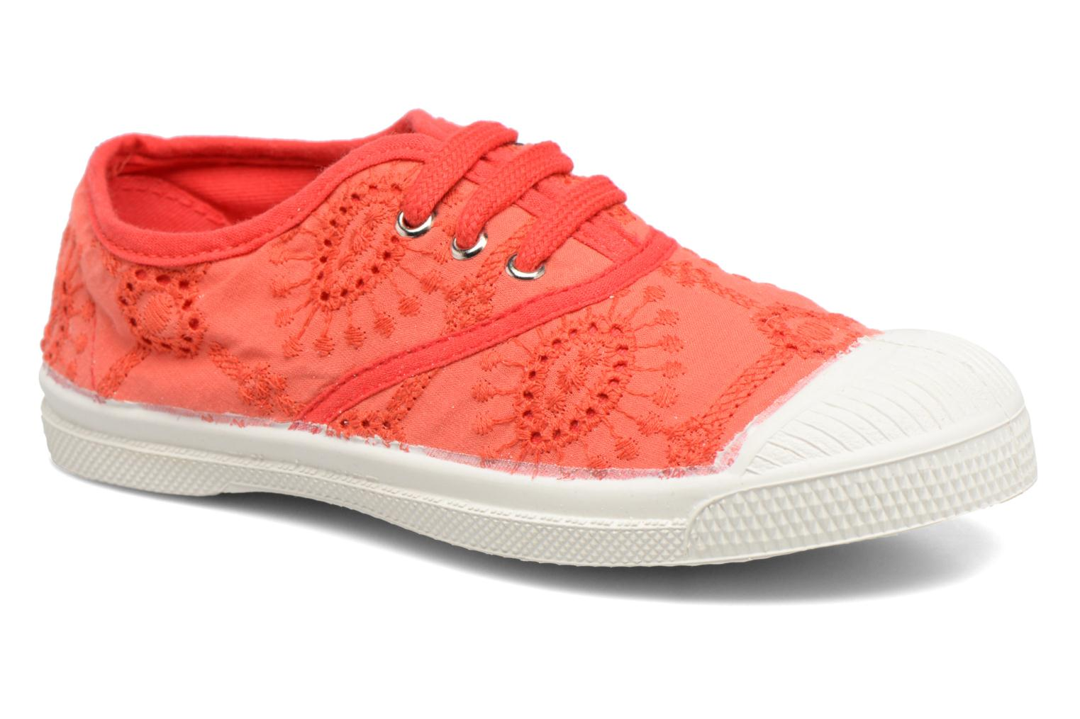 Trainers Bensimon Tennis Broderie Anglaise E Red detailed view/ Pair view