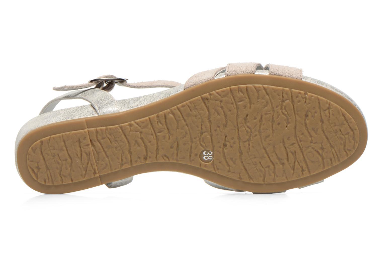 Sandales et nu-pieds Madison Emora Argent vue haut