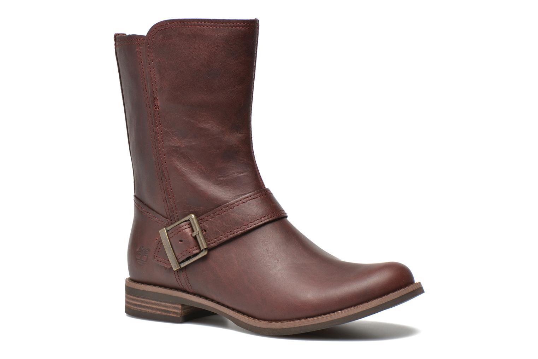 Bottines et boots Timberland Savin Hill Mid Zip Bordeaux vue détail/paire
