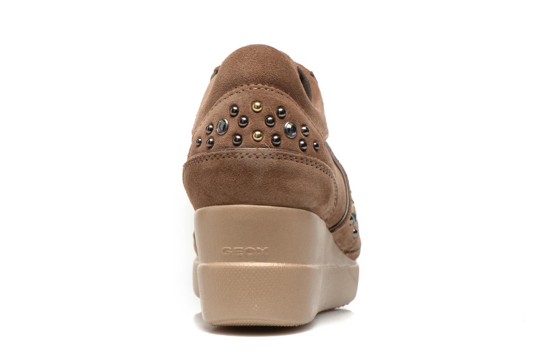Sneaker Geox D Stardust B D4430B braun ansicht von rechts