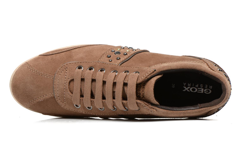 Sneaker Geox D Stardust B D4430B braun ansicht von links