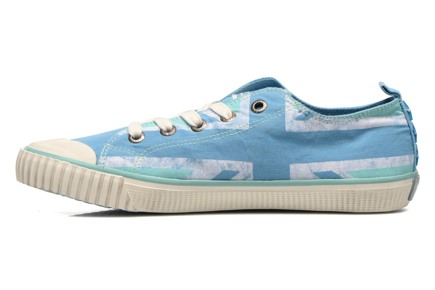 Trainers Pepe jeans Industry Flag Low Cut 2 Blue front view