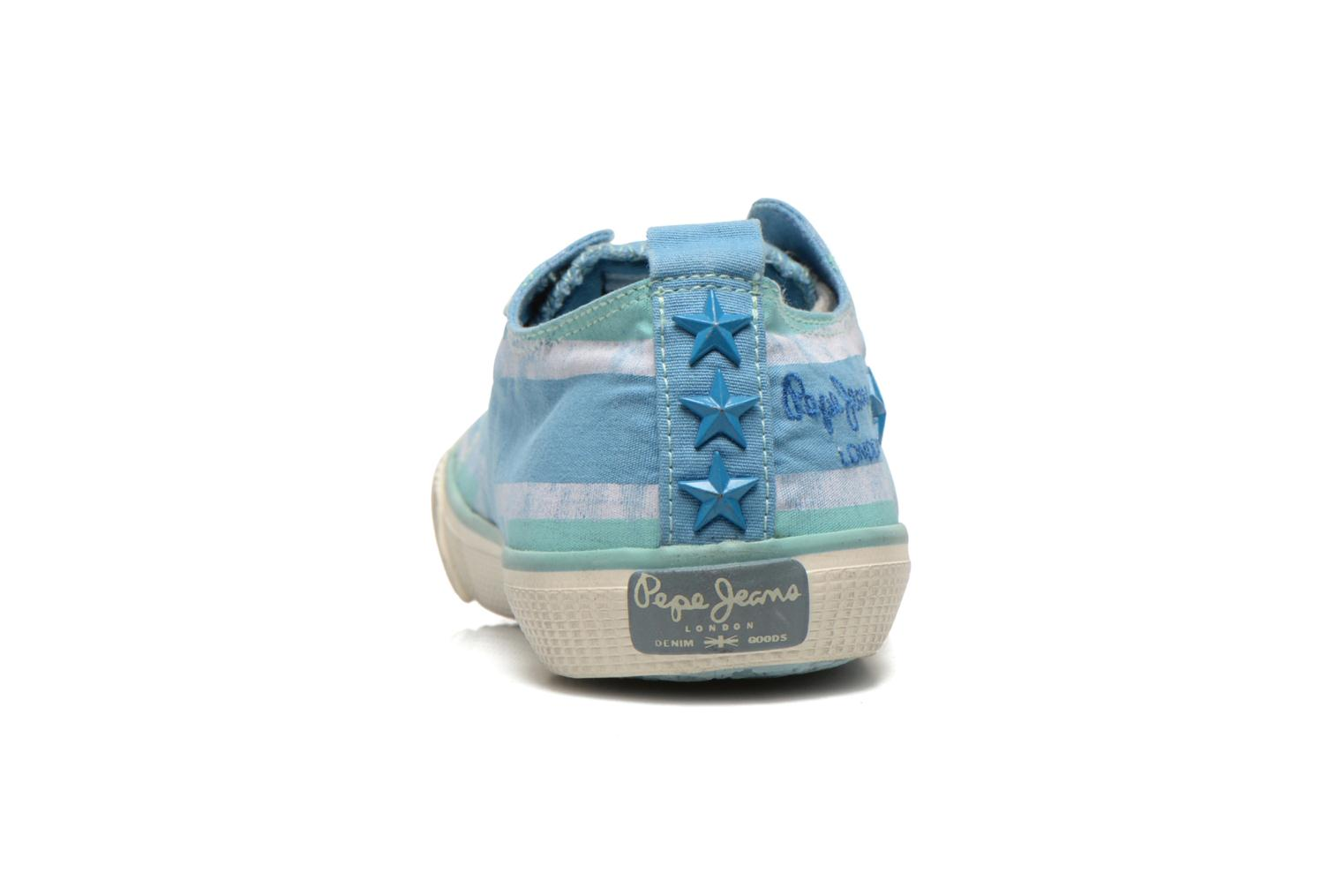 Deportivas Pepe jeans Industry Flag Low Cut 2 Azul vista lateral derecha