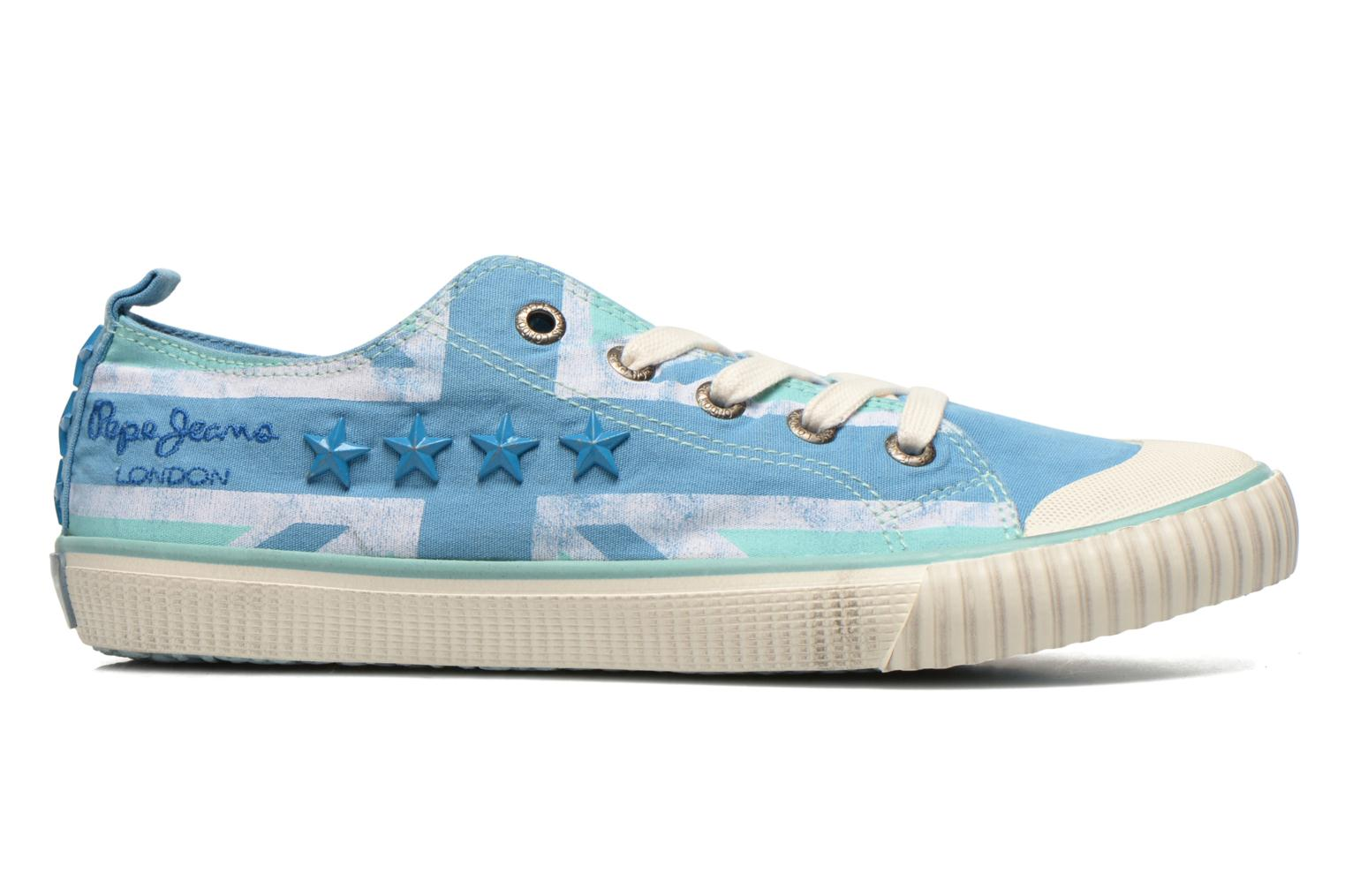 Trainers Pepe jeans Industry Flag Low Cut 2 Blue back view