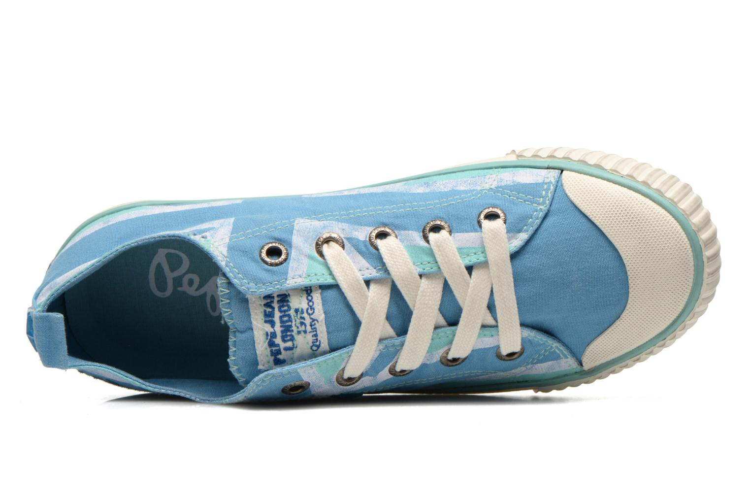Trainers Pepe jeans Industry Flag Low Cut 2 Blue view from the left