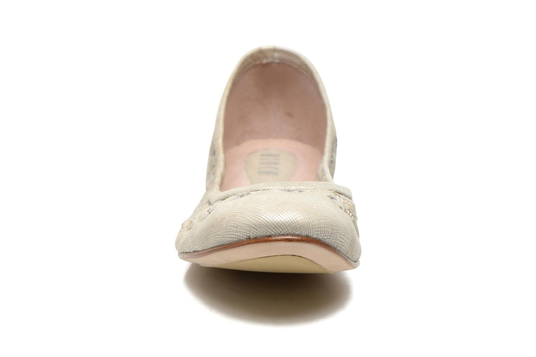 Ballerinas Bloch Alba silber schuhe getragen