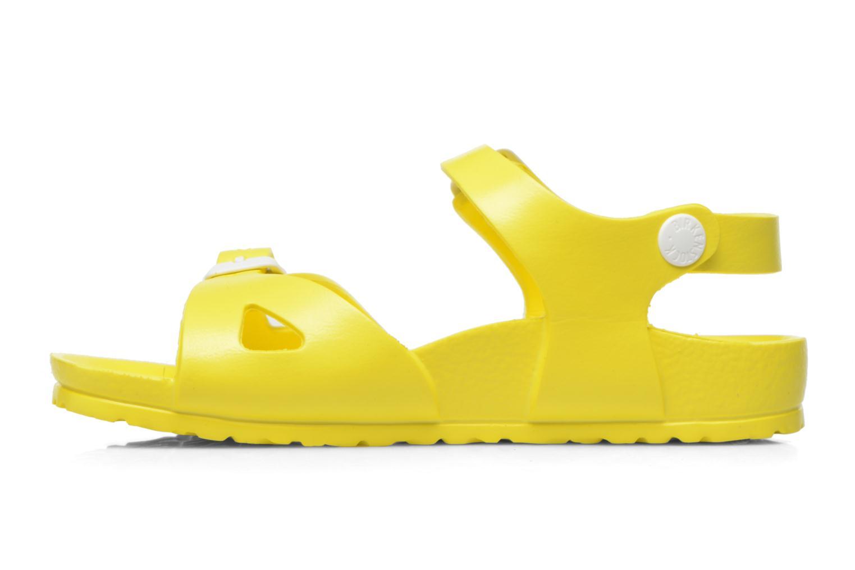Sandales et nu-pieds Birkenstock Rio EVA Jaune vue face