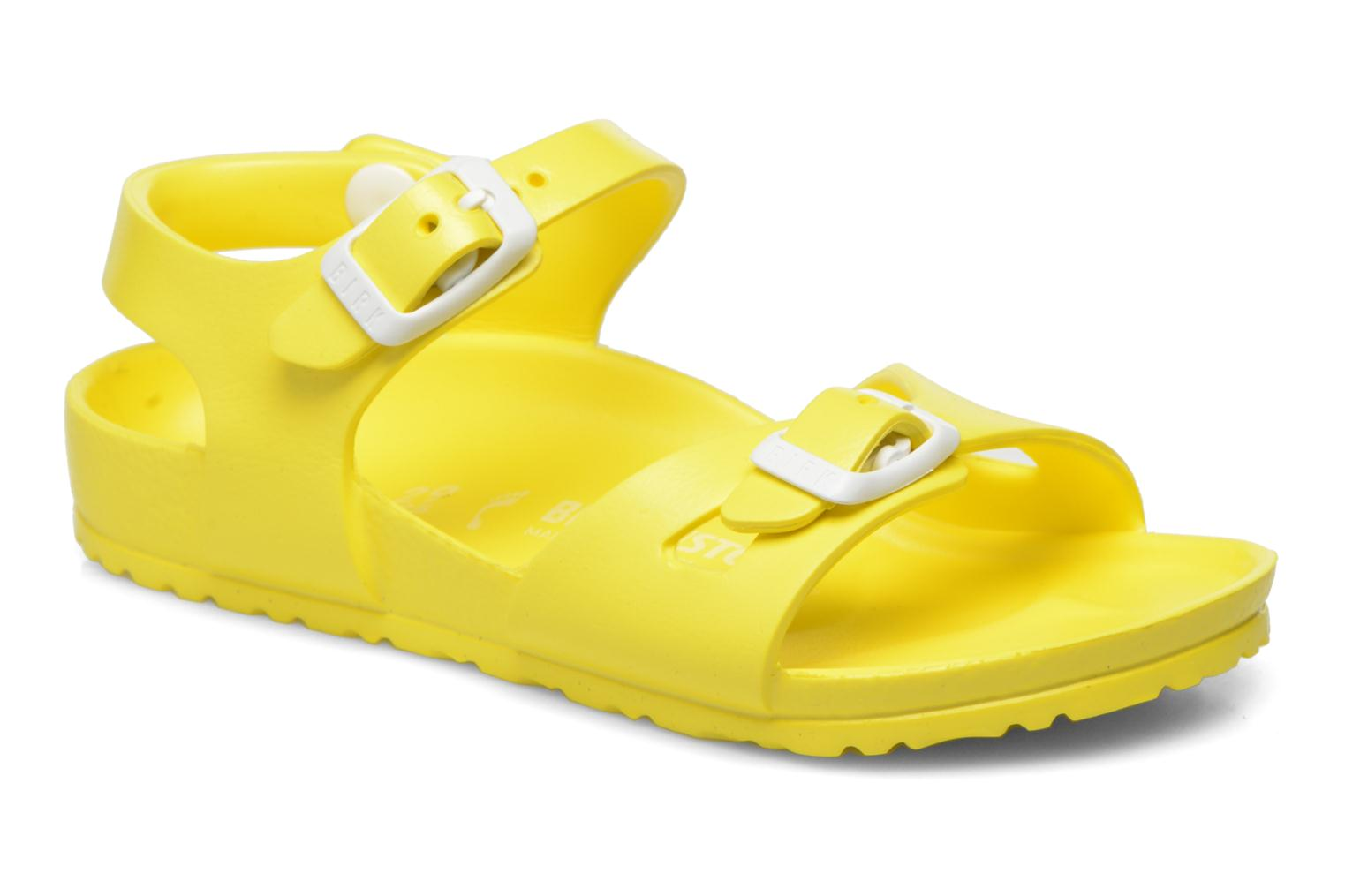 Sandals Birkenstock Rio EVA Yellow detailed view/ Pair view