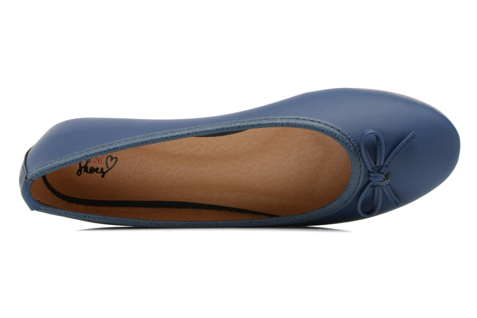 Ballerines I Love Shoes Suflatine Bleu vue gauche