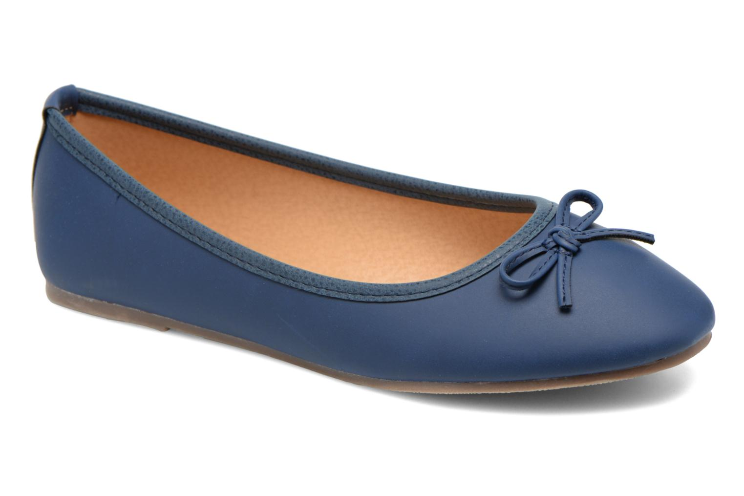 Ballerines I Love Shoes Suflatine Bleu vue détail/paire
