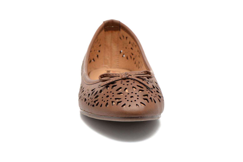 Ballerines I Love Shoes Suflatou Marron vue portées chaussures