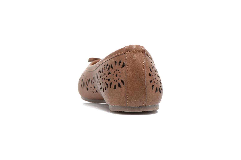 Ballerines I Love Shoes Suflatou Marron vue droite