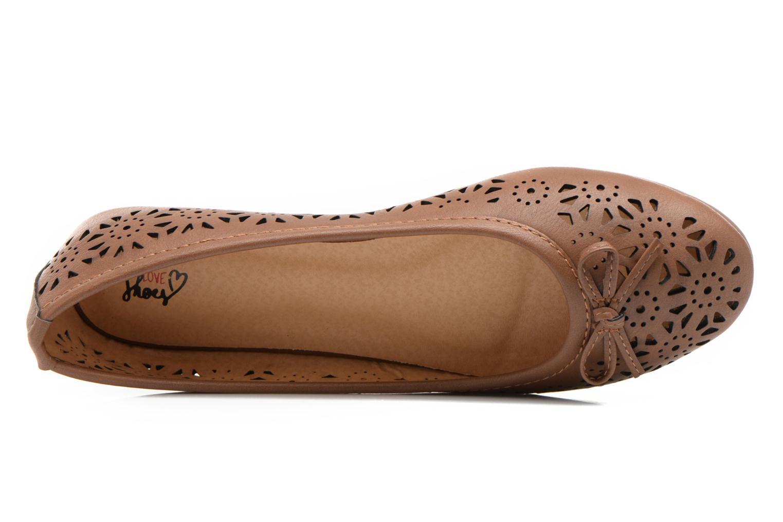 Ballerines I Love Shoes Suflatou Marron vue gauche