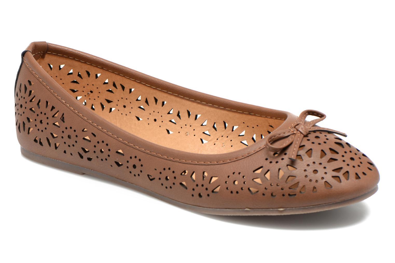Ballerines I Love Shoes Suflatou Marron vue détail/paire