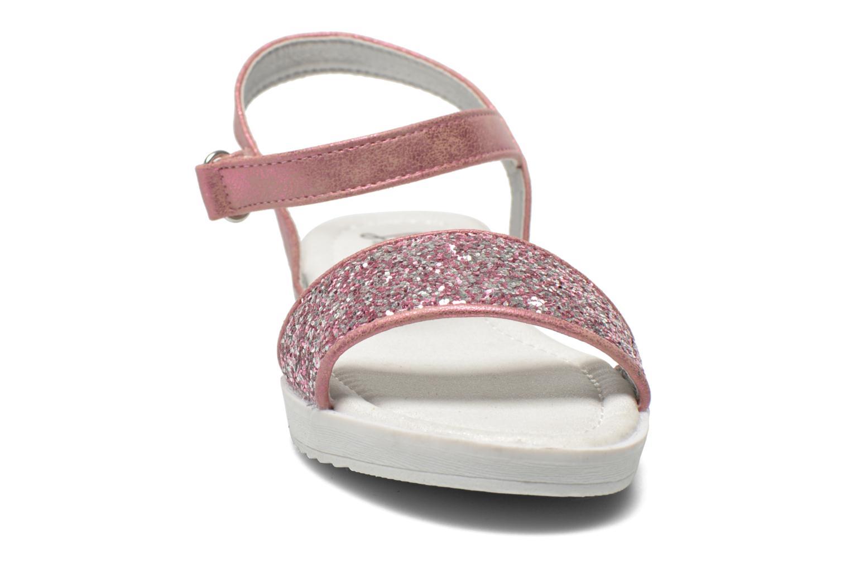 Sandales et nu-pieds I Love Shoes Supaillettes Rose vue portées chaussures