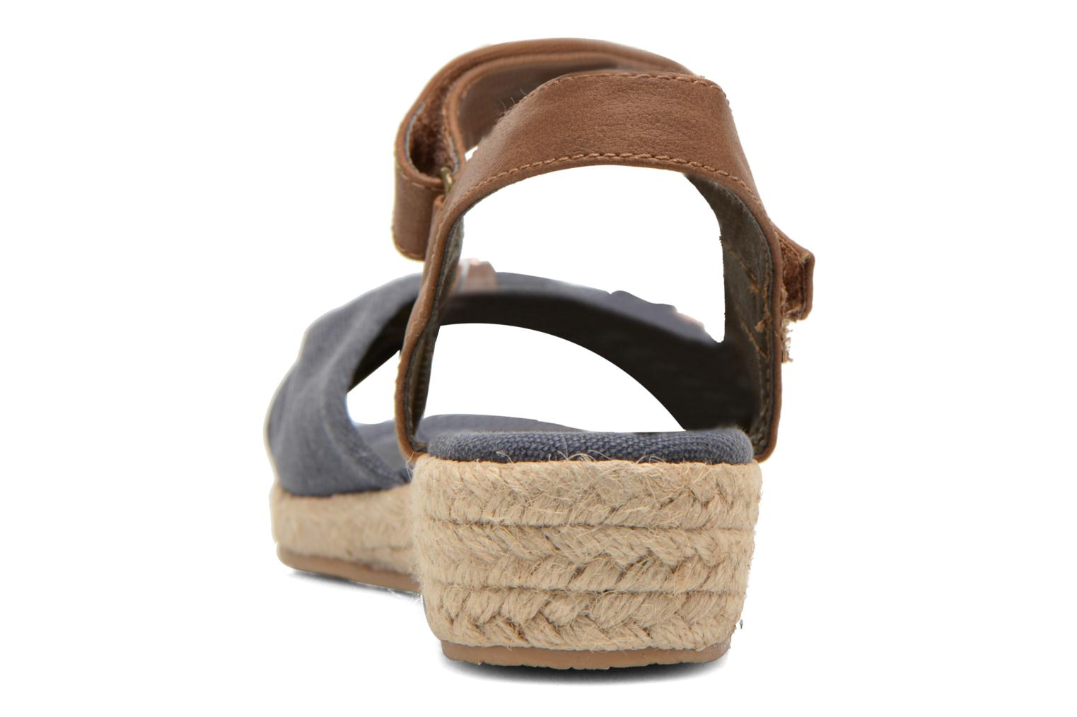 Sandals I Love Shoes Sudreto Blue view from the right