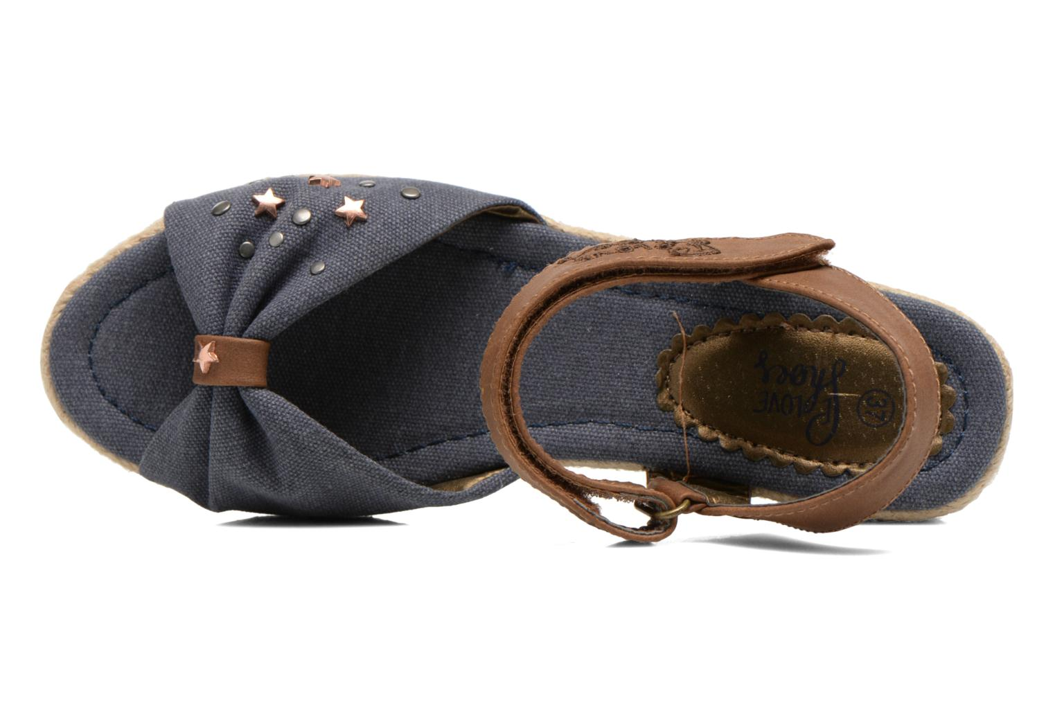 Sandals I Love Shoes Sudreto Blue view from the left