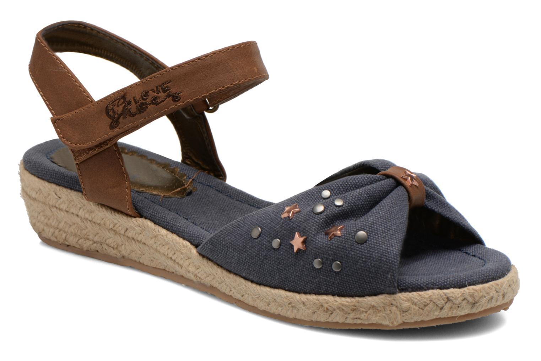 Sandals I Love Shoes Sudreto Blue detailed view/ Pair view
